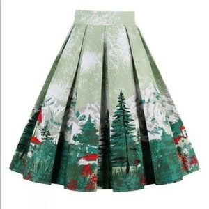ModCloth mountain scene skirt.